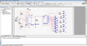 Simulación de un circuito electrónico